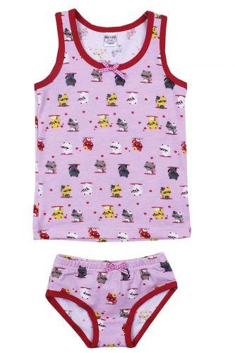 """Комплект белья для девочек Bonito kids 2-6 лет """"Котята"""" розовый"""