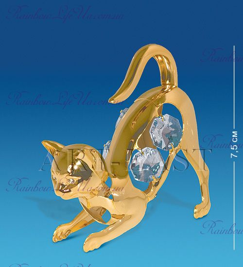 "Фигурка кошка с камнями ""Swarovski"""