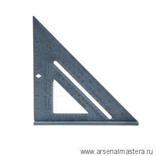Угольник Swanson Speedlite Square 8/200 мм (шкала в дюймах) Пластик Серый T0112