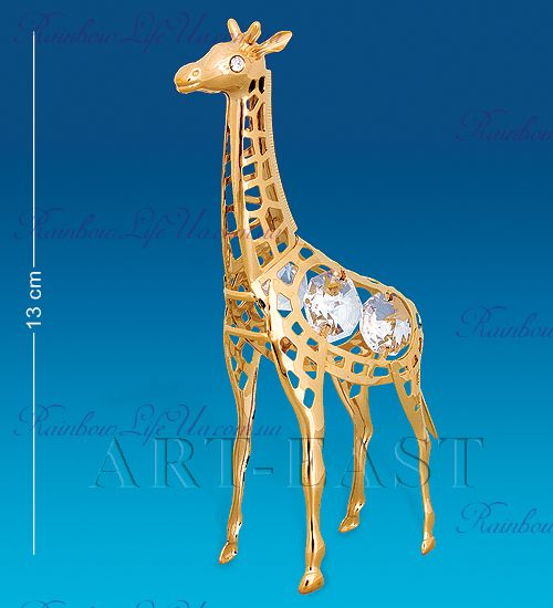 "Фигурка жираф с камнями ""Swarovski"""