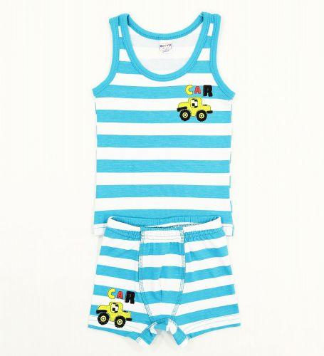 """Комплект белья для мальчика Bonito kids 2-6 лет """"Car"""" бирюзовый"""