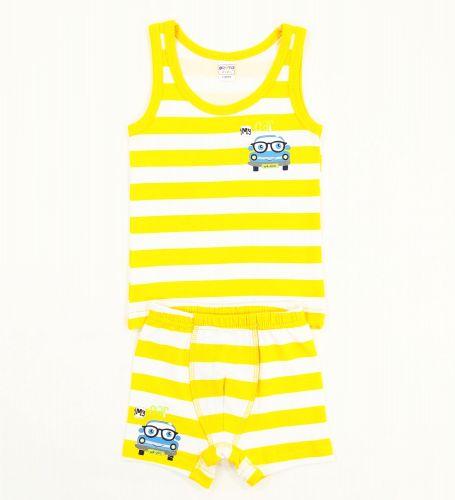 """Комплект белья для мальчика Bonito kids 2-6 лет """"My Car"""" желтый"""