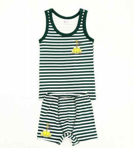 """Комплект белья для мальчика Bonito kids 2-6 лет """"Жираф"""" темно-зеленый"""