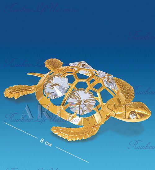 "Фигурка морская черепаха с камнями ""Swarovski"""