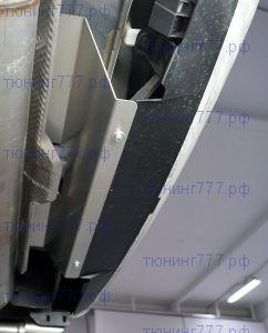 Защита края заднего бампера, ТСС, алюминий 2мм