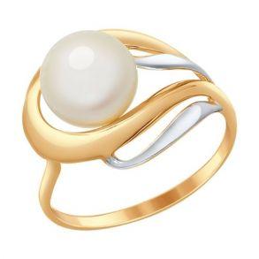 Кольцо из золота с жемчугом 791015 SOKOLOV