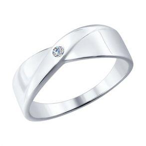 Кольцо из серебра с бриллиантом 87010004 SOKOLOV