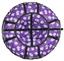 Тюбинг Hubster Люкс Pro Мишки фиолетовые 100 см