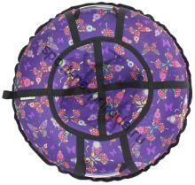 Тюбинг Hubster Люкс Pro Бабочки фиолетовые 110 см