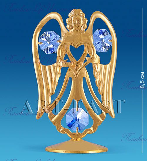 "Фигурка ангел и сердце с камнями ""Swarovski"""