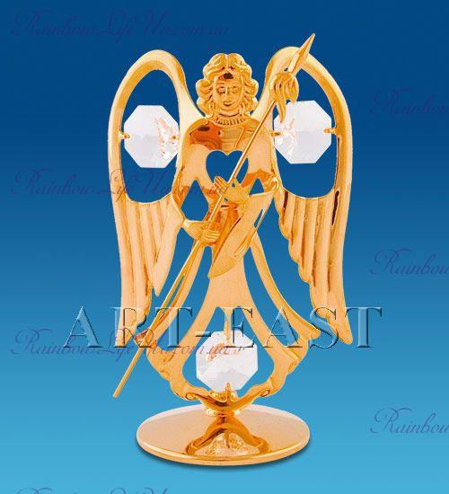 "Фигурка ангел с копьем с камнями ""Swarovski"""