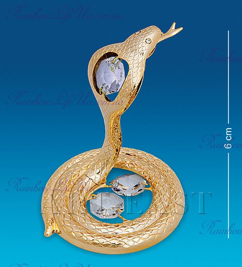 "Фигурка змея с камнями ""Swarovski"""
