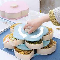 Раздвижная менажница для сухофруктов и конфет Candy Box Pattern Rotating, Цвет: Голубой