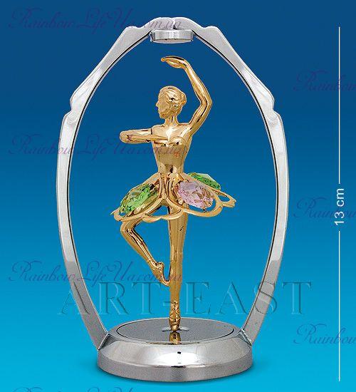"Фигурка танцующая балерина с камнями ""Swarovski"""