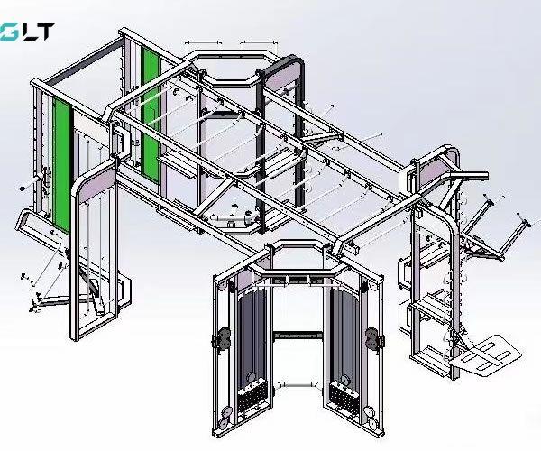 Станция для функционального тренинга 360 (8 сторонняя) GLT FT 360-G