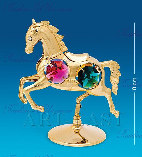 """Фигурка веселая лошадка с камнями """"Swarovski"""""""