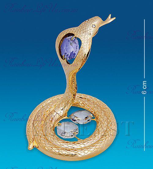 "Статуэтка кобра с камнями ""Swarovski"""