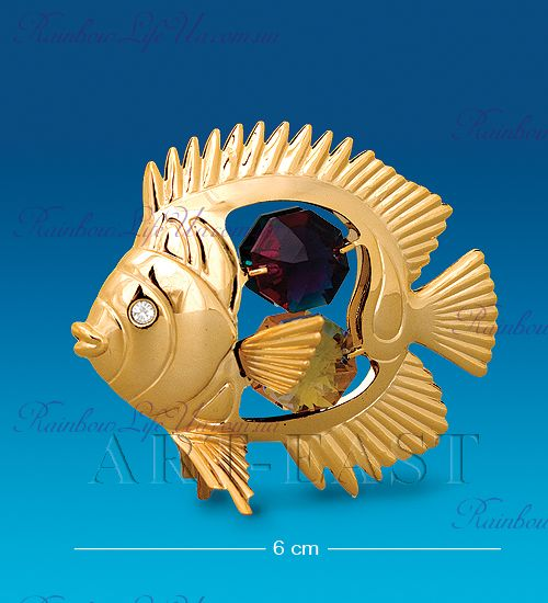 "Статуэтка рыбка с камнями ""Swarovski"""