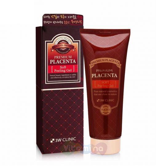 3W CLINIC Мягкий пилинг-гель с экстрактом плаценты Premium Placenta Soft Peeling Gel, 180 мл