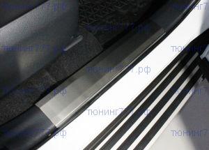 Накладки на пороги, TCC, матовая сталь на пластик