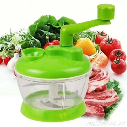 Универсальная механическая овощерезка Multi- functional Food Cooking Machine, Зеленый