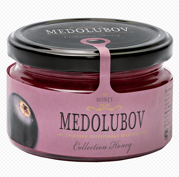 Крем-мёд Медолюбов с черной смородиной 250мл