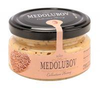 Крем-мёд Медолюбов урбеч с семенами льна (темный) 100мл
