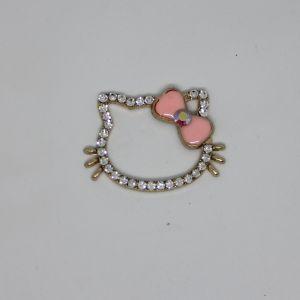 `Кабошон, металл, цвет основы - золото, размер 43*32 мм, цвет светло-розовый, Арт. Р-КБС0364