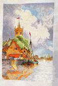 Схема для вышивки крестом Голландская гавань. Отшив.