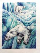 "Cross stitch pattern ""White bears""."