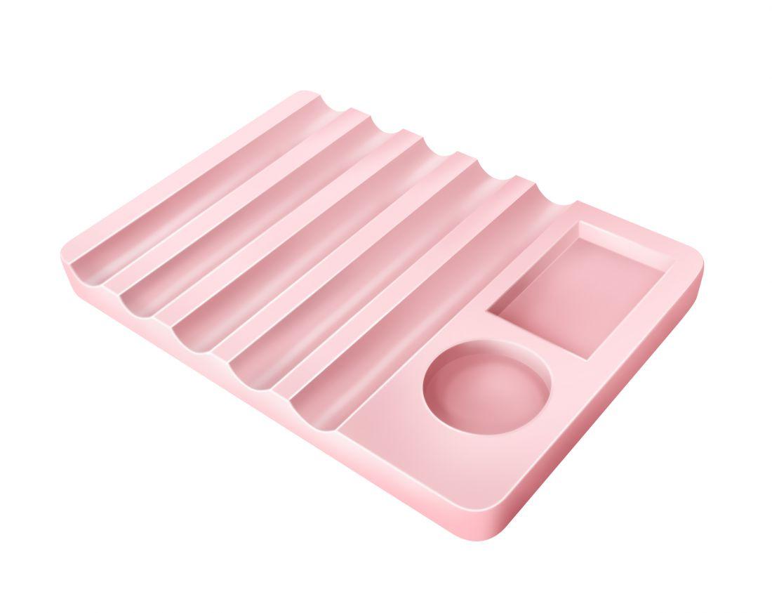 Подставка горизонтальная для кистей с палитрой ( Цвет в ассортименте )