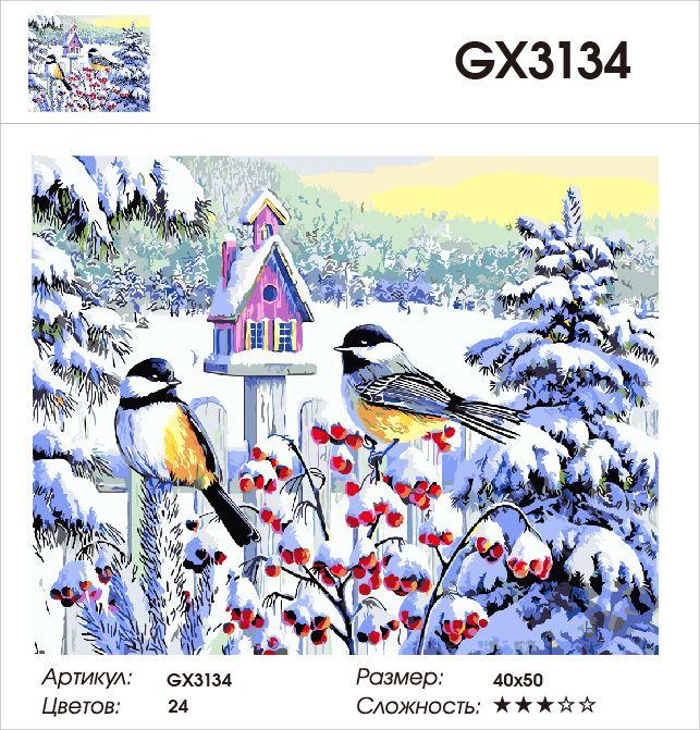 Картина по номерам на подрамнике GX3134