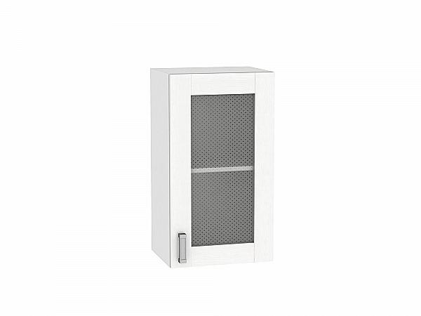 Шкаф верхний Лофт В400 со стеклом (Snow Veralinga)