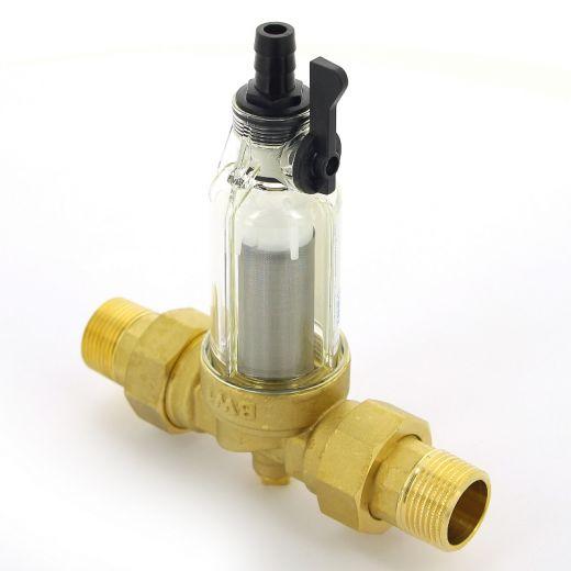 """Фильтр промывной BWT Protector mini 1"""" 100 мкм для х/в пластик. колба"""