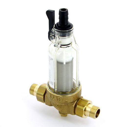 """Фильтр промывной BWT Protector mini 1/2"""" 100 мкм для х/в пластик. колба"""