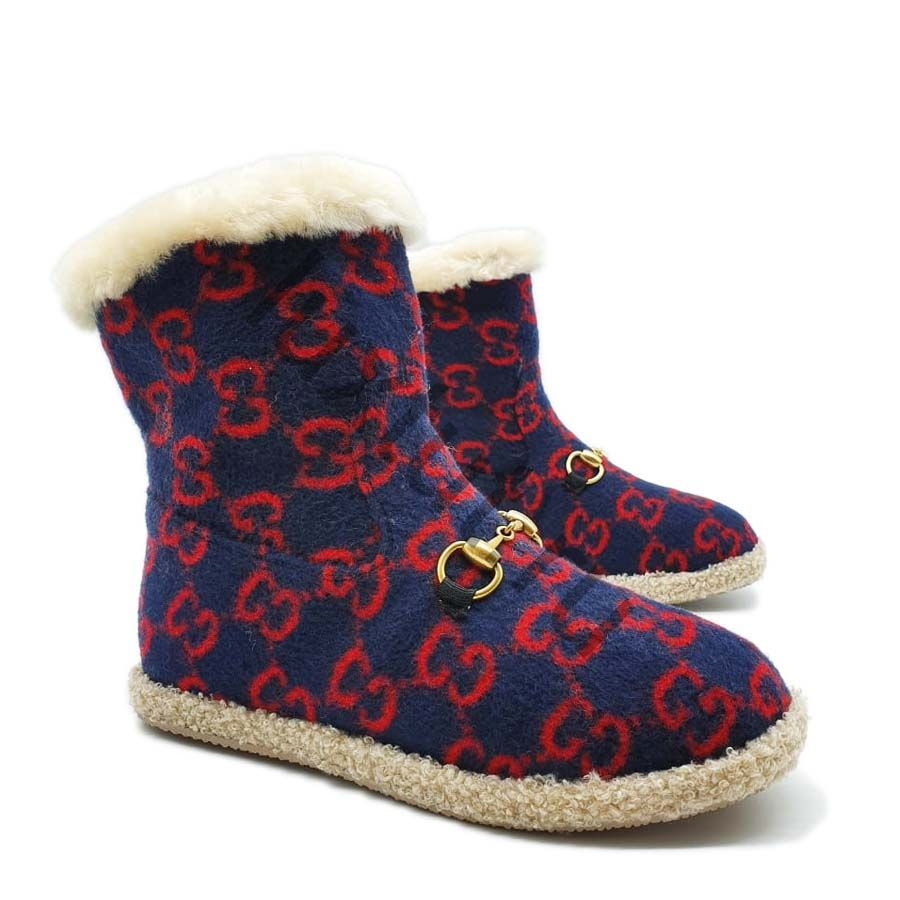 Ботинки Gucci с мехом