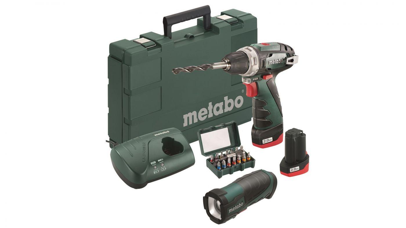 Аккумуляторная дрель-шуруповерт Metabo PowerMaxx BS 2014 Basic  (600080930)