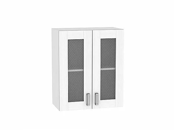 Шкаф верхний Лофт В600 со стеклом (Snow Veralinga)