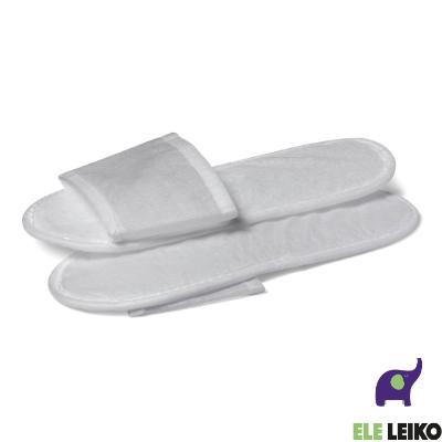 """Тапочки с открытым мысом белые, с подошвой 5 мм., в индивидуальной упаковке """"Мики"""" (1/150)"""