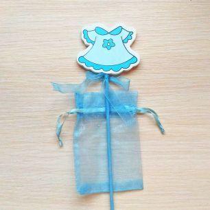 Платье голуб с мешочком на пике