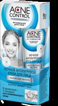 """""""fk"""" Крем для лица ночной антиугревой серии «Acne Control Professional» Абсолютная чистота 45мл"""