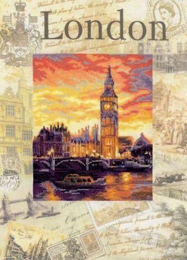 Набор для вышивания крестом Города мира. Лондон РТ 0019 фирма Риолис