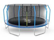 Батут StartLine Fitness 16 футов (488 см) с внутренней сеткой и держателями 166108S2M
