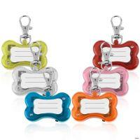 Светодиодный брелок-адресник с информационной наклейкой для собак Косточка (1)