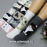 """Носки женские """"МОРДОЧКА"""" № ФН107А"""