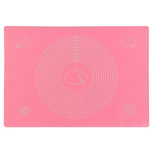 Силиконовый коврик для раскатывания теста, 30х40 см, цвет - розовый.