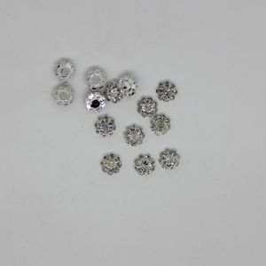 Кабошон, металл, цвет основы - серебро, размер 10 мм (1уп = 10шт), Арт. КБС0386