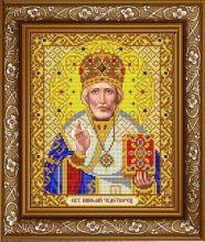 ИС-4051 Славяночка. Святой Николай Чудотворец в золоте. А4 (набор 875 рублей)