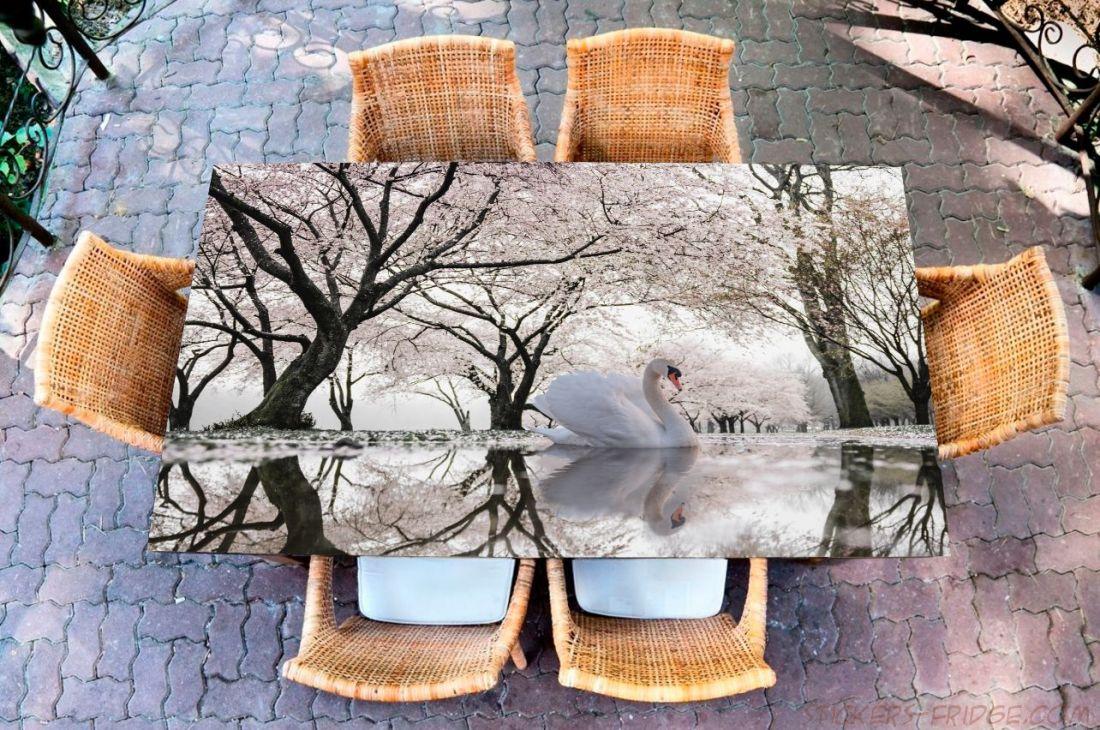 Наклейка на стол - Лебединое озеро