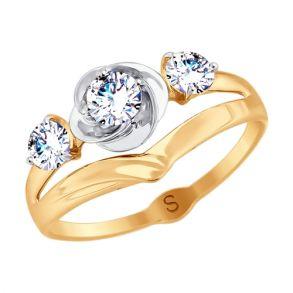 Кольцо из золота с фианитами SOKOLOV 017954